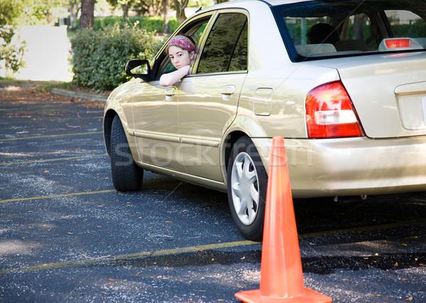 Teen Driving Test - Parking Stock photo © lisafx