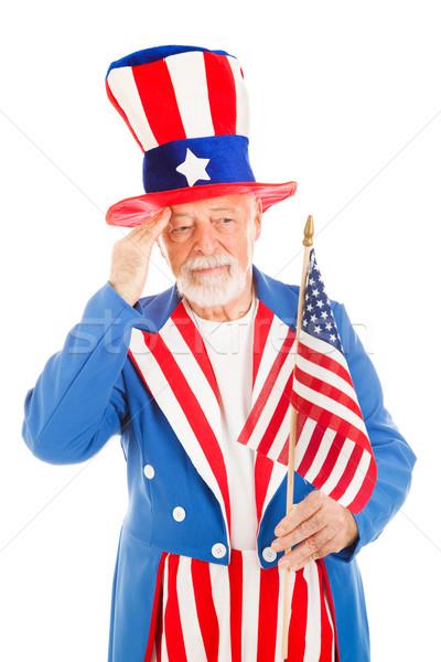 Tío América bandera americano icono aislado Foto stock © lisafx