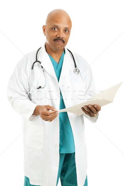 Handsome Caring Doctor Stock photo © lisafx