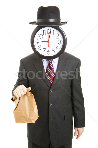 Faceless Businessman Brings His Lunch Stock photo © lisafx
