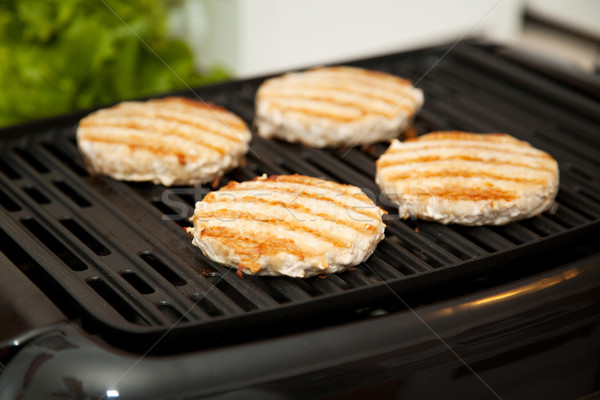 Grilling Turkey Burgers Stock photo © lisafx