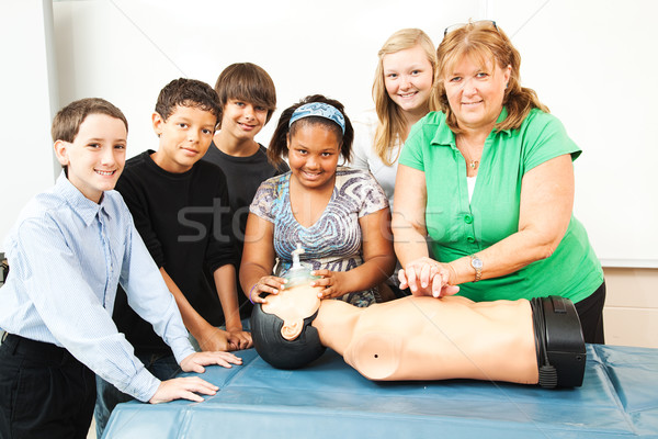 Teacher with CPR Class and Dummy Stock photo © lisafx