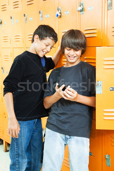 Teen Boys with Video Game Stock photo © lisafx