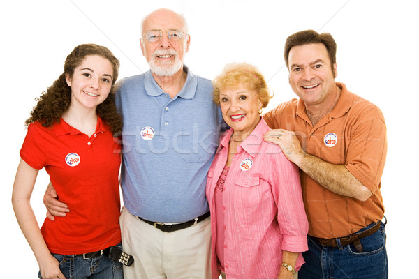 Stock photo: American Family Voted