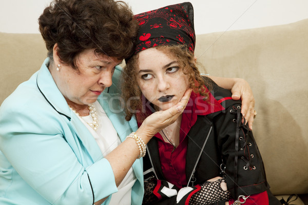 Angry Teen Worried Mom Stock photo © lisafx