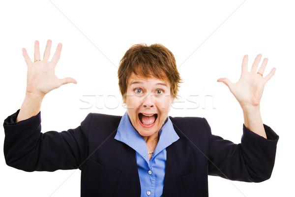Businesswoman Terrified Stock photo © lisafx