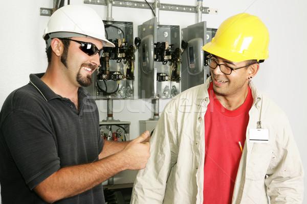 Electricians - Good Work Stock photo © lisafx