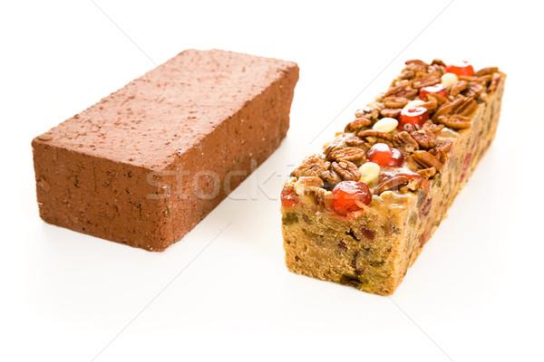 Fruitcake Brick Comparison Stock photo © lisafx