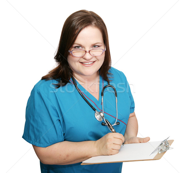Nurse Takes Medical History Stock photo © lisafx