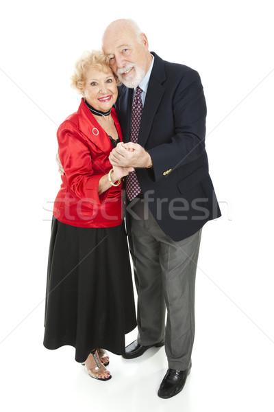 Romantik yaşlılar dans güzel yanak Stok fotoğraf © lisafx