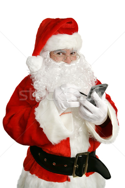 Santa Clause With Personal Computer Stock photo © lisafx