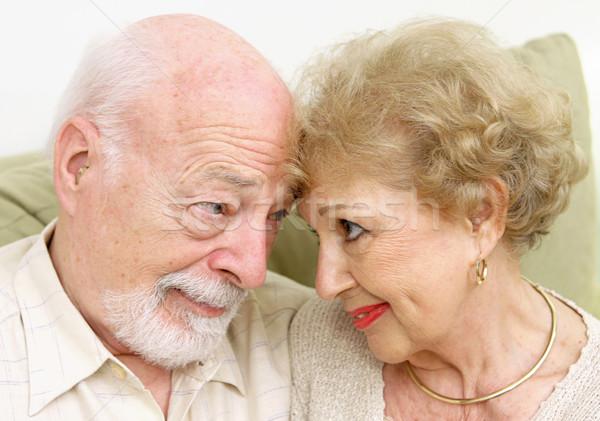 Flirtare guardando naso donna famiglia Foto d'archivio © lisafx
