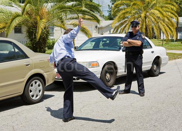 Trafic arrêter test marche droite ligne Photo stock © lisafx