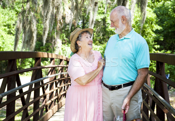 Vacation Seniors - Laughter Stock photo © lisafx