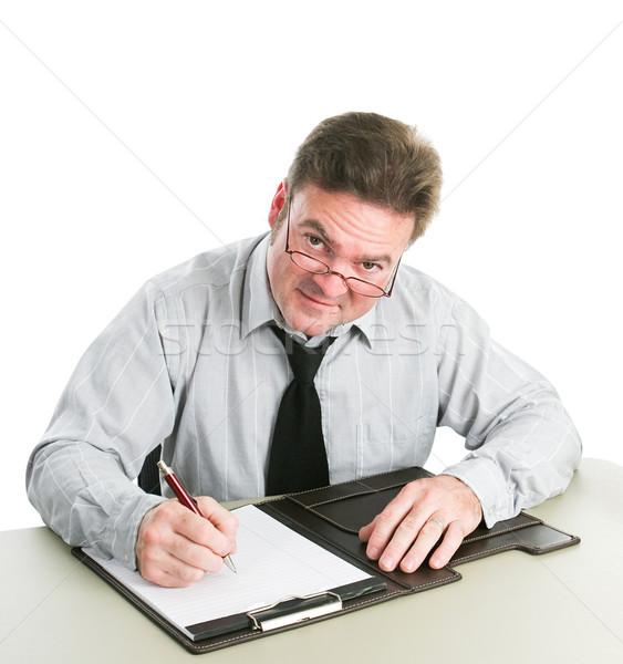 Businessman Taking Notes Stock photo © lisafx