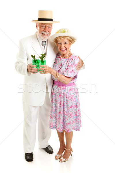 Senior Couple on Derby Day Stock photo © lisafx