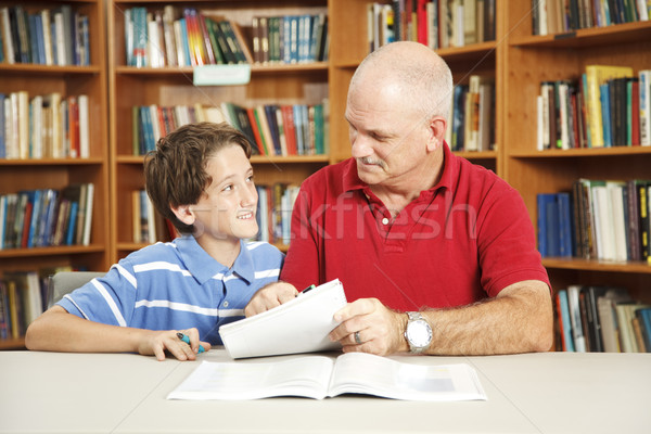 Tutoring From Dad Stock photo © lisafx