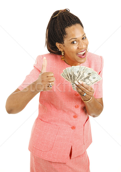 African-American Woman Holding Cash Stock photo © lisafx