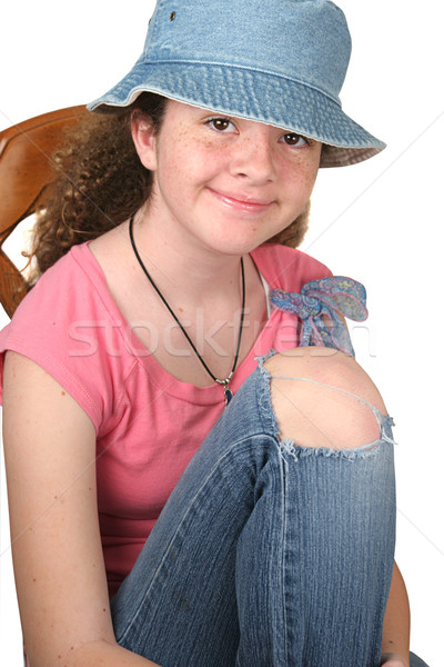 Casual Girl Seated Stock photo © lisafx