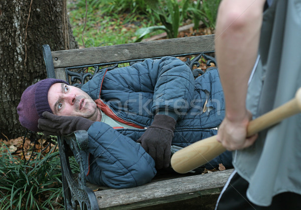 Homeless Man - Terrified Stock photo © lisafx