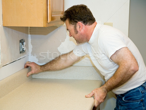 Installing Laminate Counter Top Stock photo © lisafx