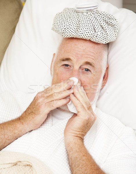 Senior Man with Flu Stock photo © lisafx