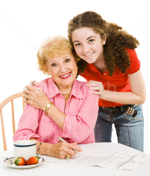 Voting Series - Grandmother & Teen Stock photo © lisafx