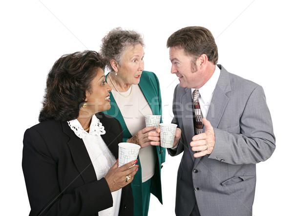 Agua chismes negocios beber aislado Foto stock © lisafx