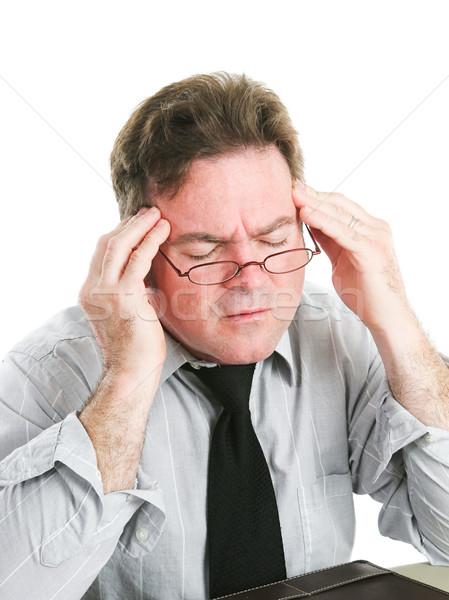 Empresário dor de cabeça branco negócio trabalhar Foto stock © lisafx