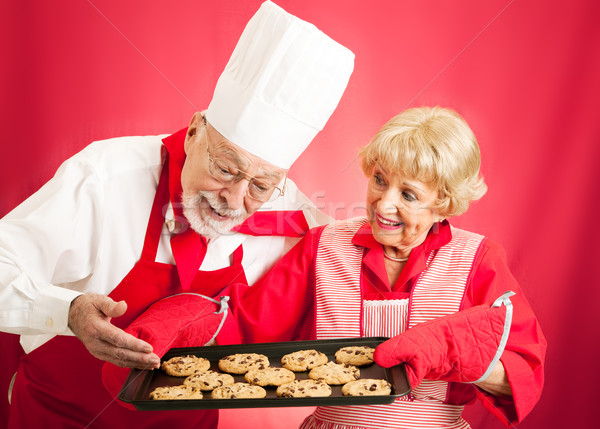 Chef and Housewife - Home Baked Cookies Stock photo © lisafx