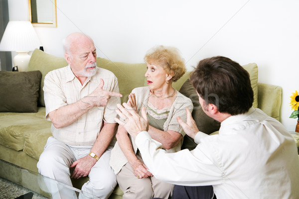 Couples Counseling with Copyspace Stock photo © lisafx