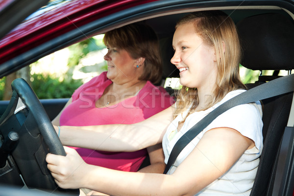 Teenage Driving Lesson Stock photo © lisafx
