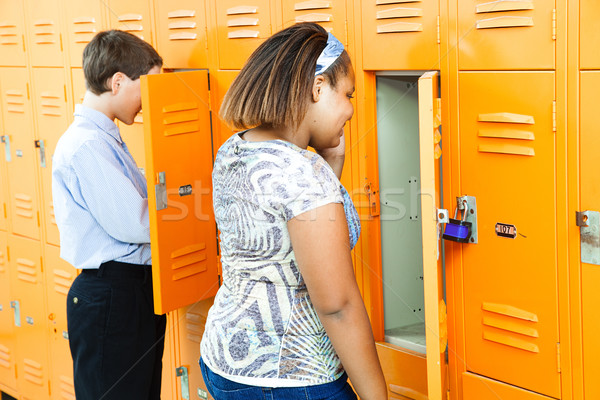 Middle School Students at Lockers Stock photo © lisafx