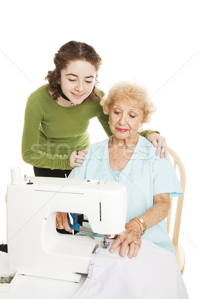 Learning to Sew From Grandmother Stock photo © lisafx