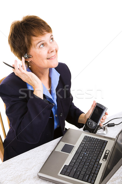 Businesswoman Works from Home Stock photo © lisafx