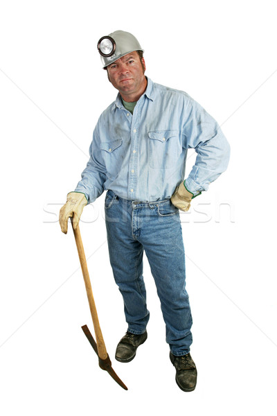 Coal Miner - Leaning on Pickax Stock photo © lisafx