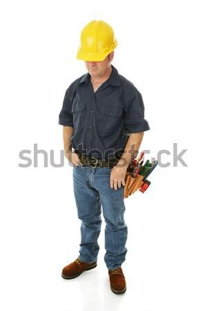 Deprimido emprego edifício homem ferramentas Foto stock © lisafx
