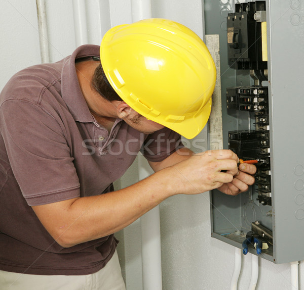 Electrician & Breaker Panel Stock photo © lisafx
