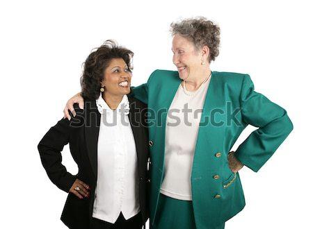 Female Business Team - High Five Stock photo © lisafx