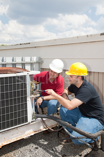 Job Training - AC Tech Stock photo © lisafx