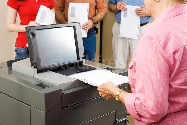 Optical Scanner Voting Stock photo © lisafx