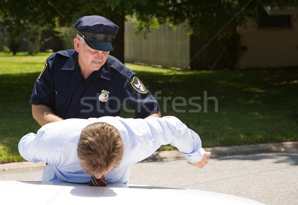 Rendőr sofőr részeg letartóztatás szoba szöveg Stock fotó © lisafx
