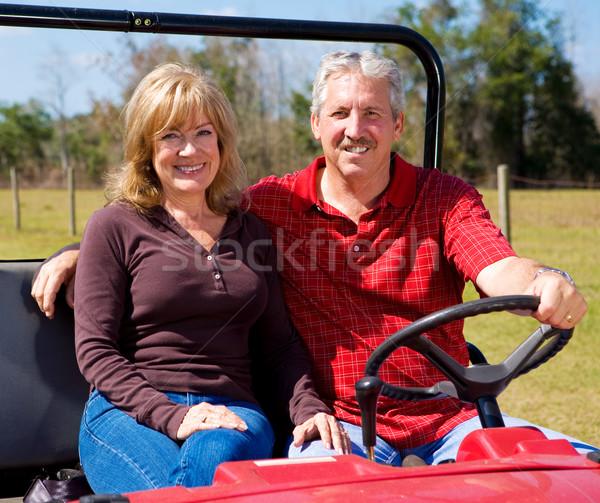 Nyugdíj életstílus fitt fiatalos nyugdíjas pár Stock fotó © lisafx