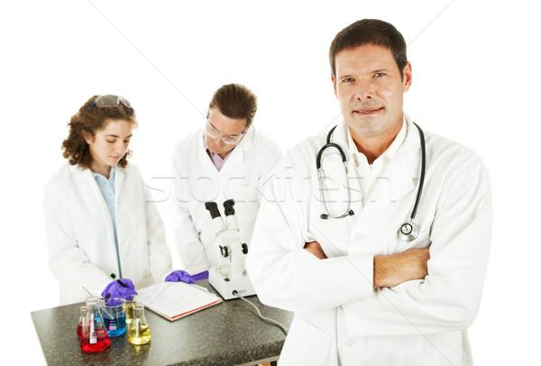 Médico médico lab bonito cientistas trabalhando Foto stock © lisafx