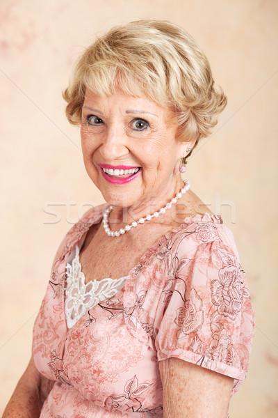 Senior mulher beleza natural retrato naturalmente belo Foto stock © lisafx