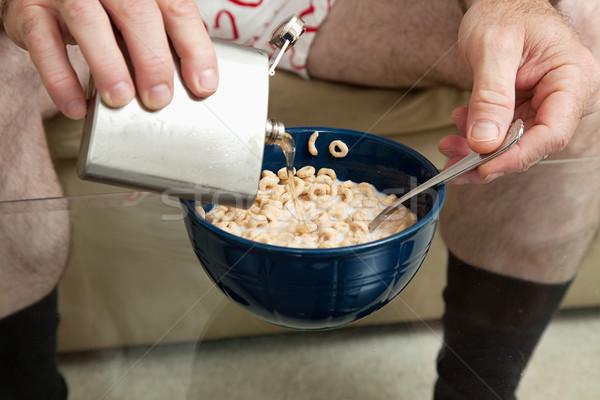 Café da manhã uísque manhã tigela cereal Foto stock © lisafx