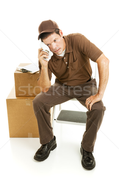 Tired Mover or Delivery Man Stock photo © lisafx