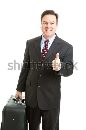 Stock Photo of Business Traveler Thumbsup Stock photo © lisafx
