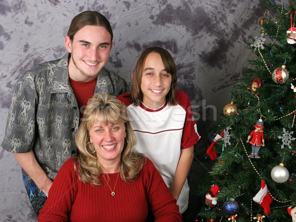 Christmas Family Portrait Stock photo © lisafx