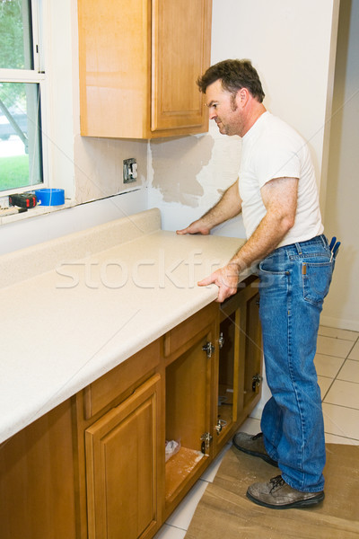 Contractor Remodeling Kitchen Stock photo © lisafx